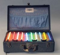 """Neon Salesman's Sample Case from the 1930s"""