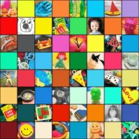 toys and stuff mosaic
