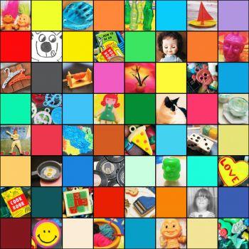 toys and stuff mosaic