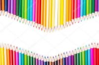 sorted colour pencils
