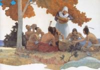 Thanksgiving with Indians - N.C. Wyeth