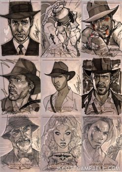 Indiana Jones Sketch Cards 7 by J. Scott Campbell