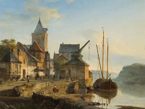 Painting by Dutch artist Cornelis Springer