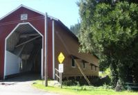 Covered bridge near Westfir Oregon