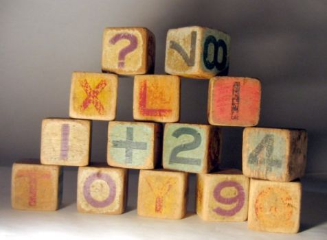 Alphabet and numbers blocks