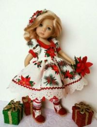 Pretty doll....dressed up for Christmas
