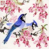 japanese art birds