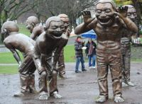 Amazing Laughing Statues in Vancouver