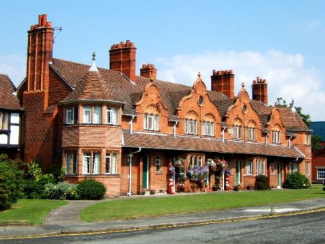 One of many beautiful houses in Port Sunlight Village, Wirral.  Photo by Rich Daley