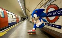 Sonic Waiting For A Train