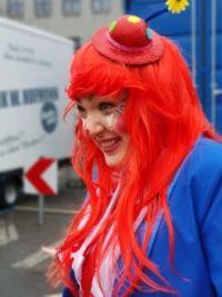 girl clown carneval mainz