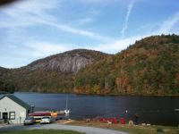 Fall mountain lake