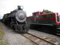 EBT Fall Reunion Steam locomotive 17 and M-7 the Diesel locomotive
