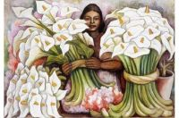 """Themes """"Famous Paintings"""" - Lilies seller"""