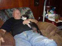 LaMutt and pap paw snoozing