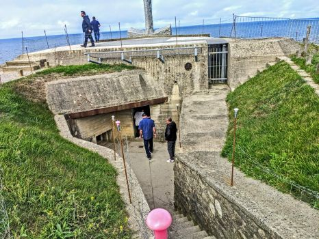 Continued honoring Memorial Day - entrance to heavily fortified underground German defense bunker