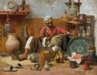 "Jean Discart. ""The Pottery Workshop - Tangiers"""