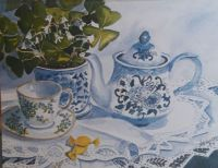 20210729_134614                   Tea for One                Illustration by Nita Leger Casey