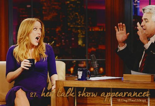 Gillian Anderson on Jay Leno's show