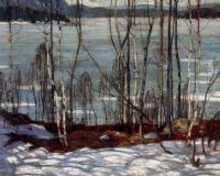 Frozen Lake, Early Spring Algonquin Park, by A.Y. Jackson, 1914