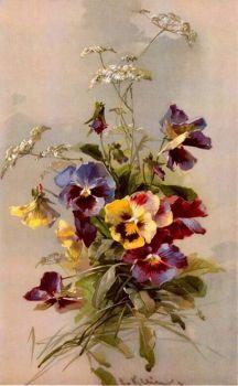 French Spring Pansies