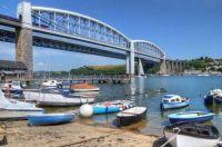Tamar bridges at Saltash, Cornwal