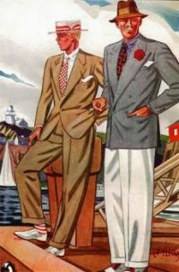 Art Deco Mens Fashion Plate