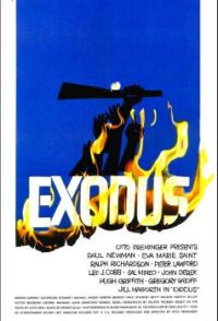 EXODUS - 1960 MOVIE POSTER -     PAUL NEWMAN, EVA MARIE SAINT