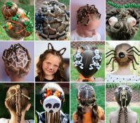 Creative DIY Halloween Hairstyles for kids
