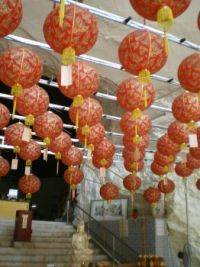 lanterns in a chiinese temple