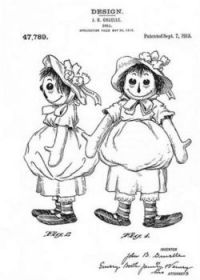 Original Raggedy Ann, Sept. 7, 1915 ~ Patented by Johnny Gruelle