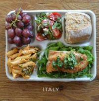 School lunch in Italy
