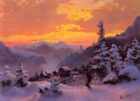 Winter Afternoon by Hans Gude