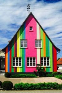 Multi-Colored House