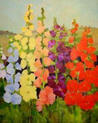 Hollyhocks, by Lindell Stacy-horton