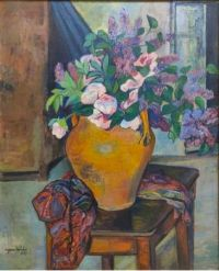 Suzanne Valadon (French, 1865–1938), Flowers in a Vase (1929)