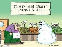 frosty picking his nose