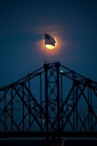 Flag and Moon  -- Marty Kittrell