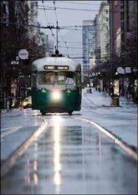 Trolley in Rain