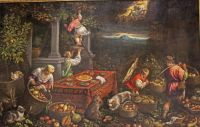 Allegory_of_the_Element_Earth by Leandro Bassano, in the collection of the Walter's Art Museum, Baltimore