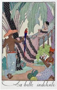 Georges Barbier (1882-1932) - La Belle Indolente  ONE MORE BARBIER!