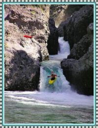 Kayaking over the Falls.