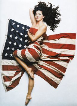 A patriotic Charisma Carpenter