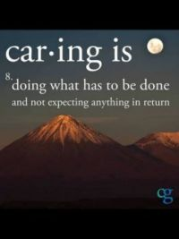 Caring is