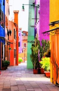 Colorful Street Scene ~  Italy