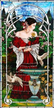 """Spanish Dancer"" - Stained Glass"