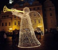 Christmas angel in Prague