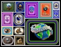 Theme - Round and Oval - World Brooches for all my Worldwide Friends - Especially Teachers - For Dotty
