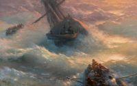 Ivan Aviazovsky Abandoning Ship
