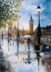 London Rainy Day Stroll